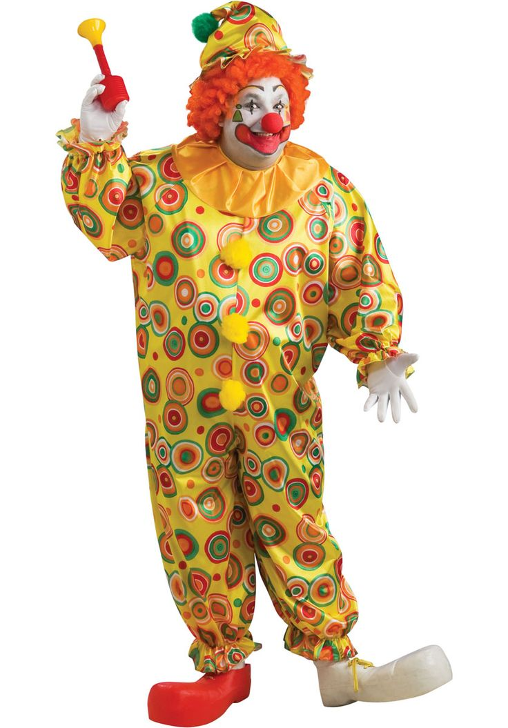 Clown Costume, Jack the Jolly Clown Circus Fancy Dress - Funny at Escapade™ UK