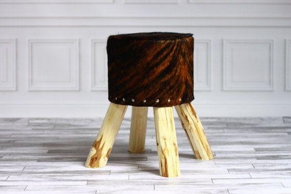 Beautiful cowhide stool