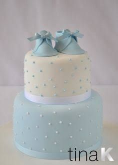 christening cake boy shoes - Google Search