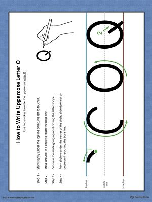 How to write uppercase letter q printable poster color worksheets expocarfo Images