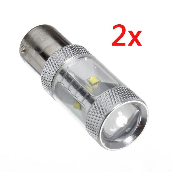 2 x 1156 30w 650LM smd 6 LED focos de las luces del coche la luz
