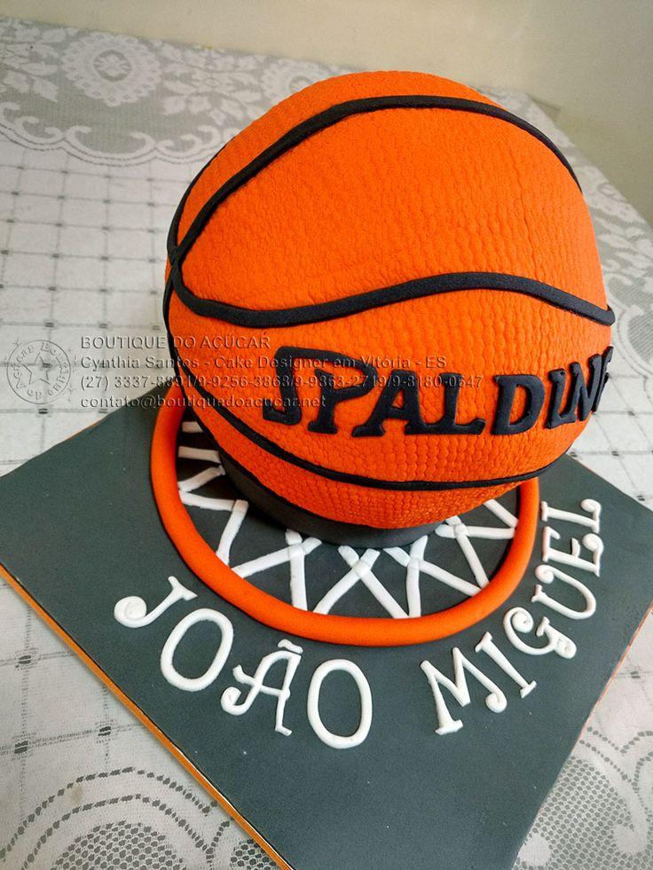 Bolo Decorado Bola De Basquete/Basketball Cake