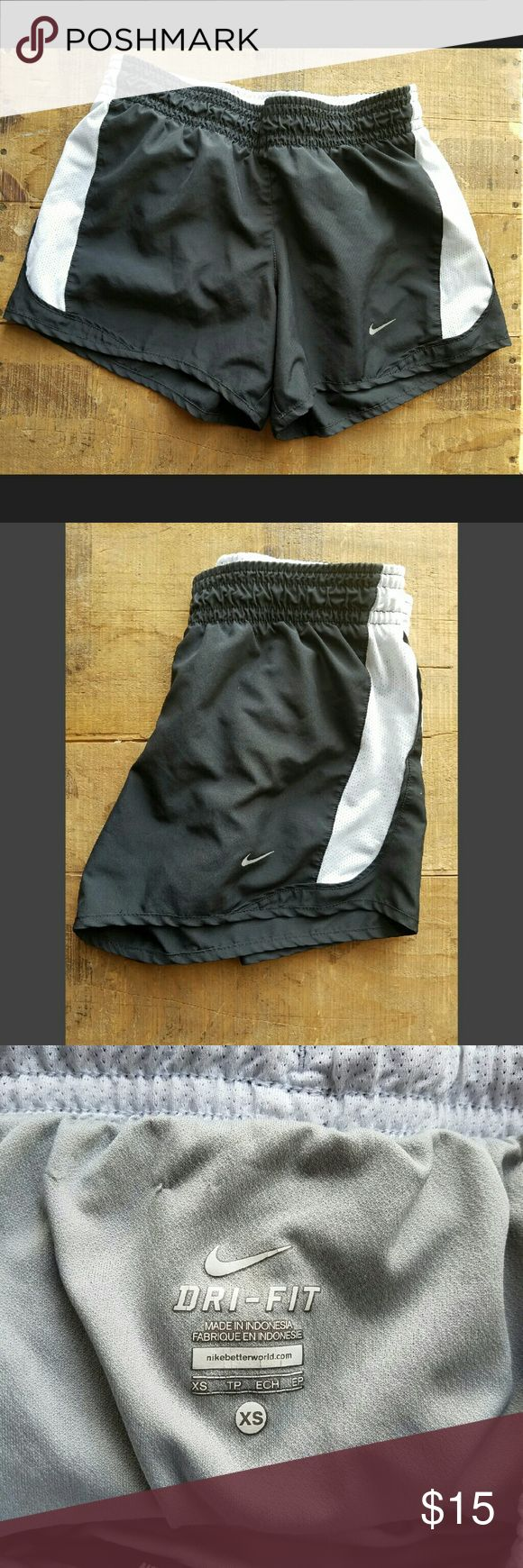 Black and White Nike Dri Fit Shorts Excellent condition, no flaws or stains. Has a built in liner.  Reasonable offers accepted, bundles discounted. Nike Shorts