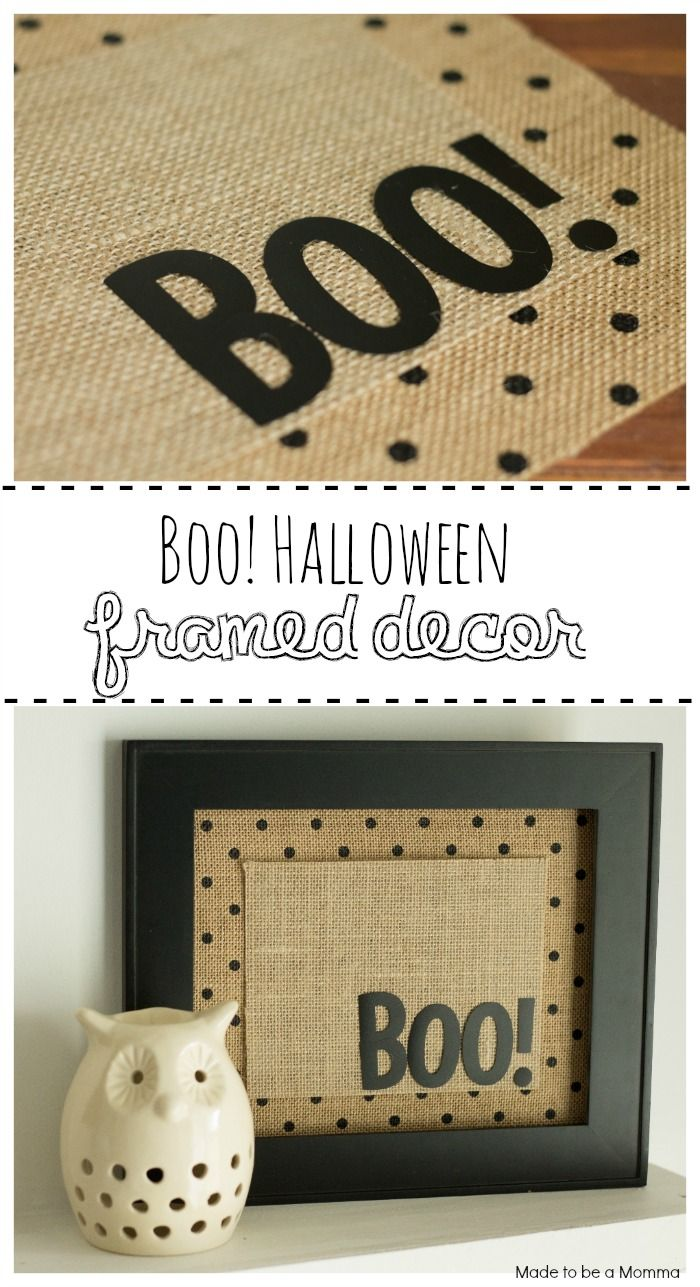 Boo! Halloween Framed Decor that is adorable!!! Click for more details