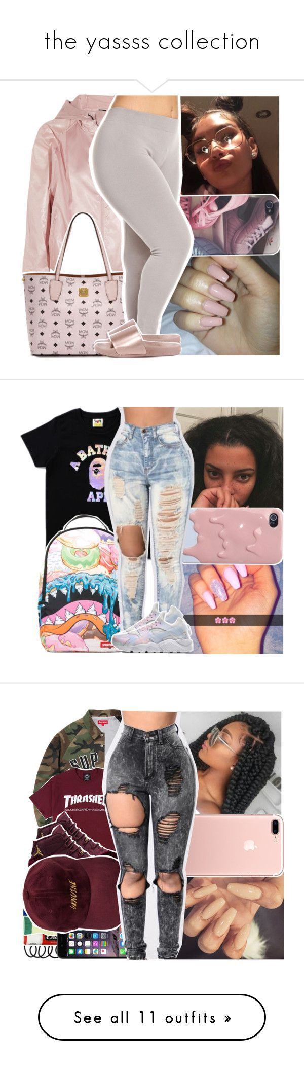 the yassss collection by pinksemia ❤ liked on Polyvore featuring NIKE, MCM, Bamboo, Sprayground, Casetify, adidas Originals, MICHAEL Michael Kors, UGG Australia, Furla and adidas