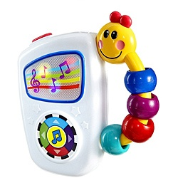@Overstock - Baby can push a big button to play seven classic melodies on this Take Along Tunes toy by Baby Einstein. The toy stimulates your baby's senses with the bead handle and multicolored lights.http://www.overstock.com/Baby/Baby-Einstein-Take-Along-Tunes-Toy/6483796/product.html?CID=214117 $10.53