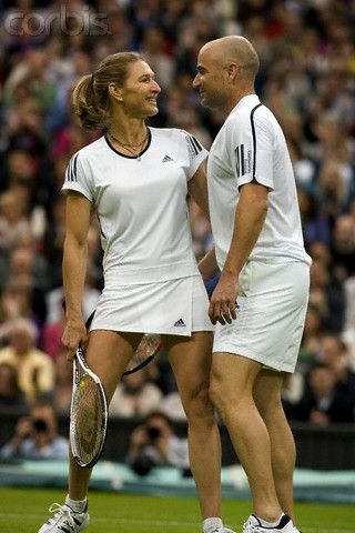 2009 - Andre Agassi & Steffi Graf...It's LOVE...And We're Not Just Talking Tennis...Married, Happily, And They Love To Talk About Their Great Relationship, Too....Love This Sports' Pair!!