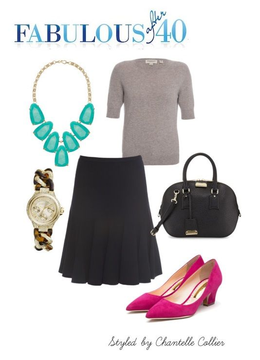 This outfit is Audrey Hepburn. Neutral colors with bright colored flats to pull the look all together. I just love it! This outfit would be super cute if you paired your shoes with your lipstick.