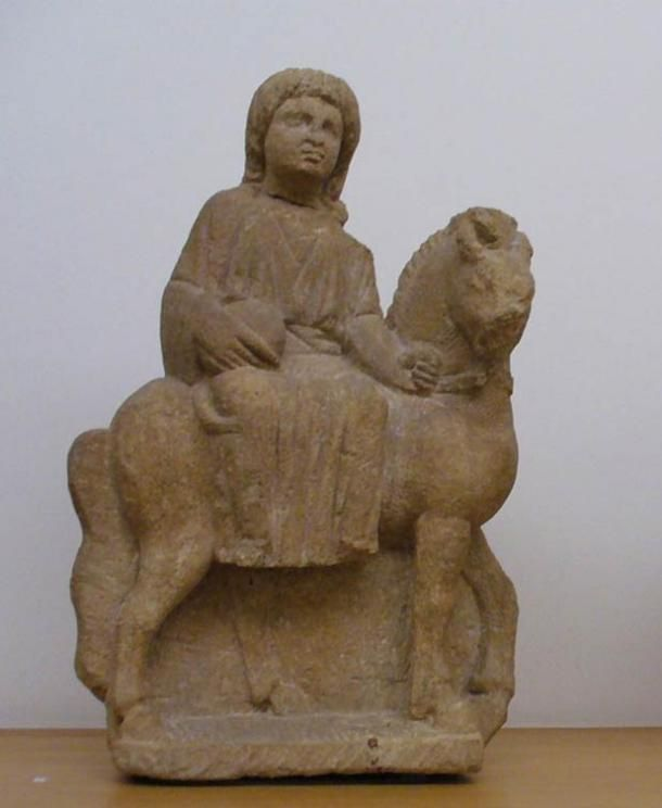 The Celtic Goddess Epona that rode swiftly across the ancient Roman Empire - interesting article - Small sculpture of the Roman/Celtic goddess Epona, third century A.D.