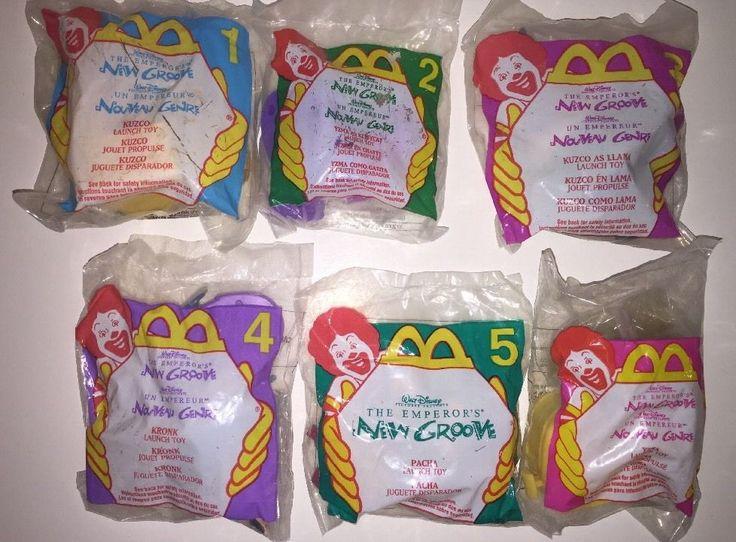 McDonalds Happy Meal Toys New 2000 Disney Emperor's New Groove Complete Set  #Disney @ebay
