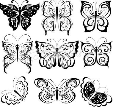 decorative butterfly royalty free stock vector art illustration
