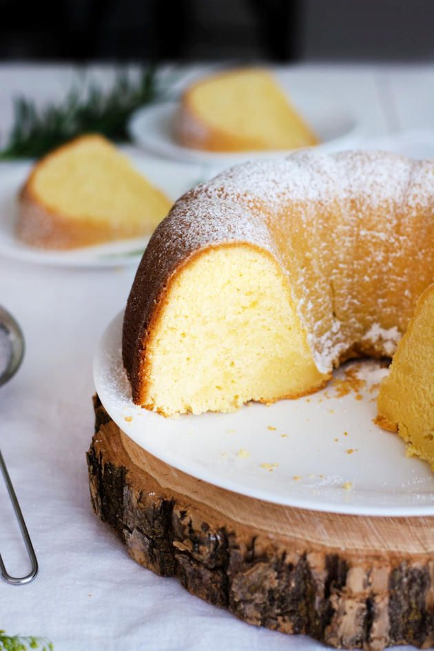 Cream Cheese Bundt Cake is a cake that'll be devoured quickly. Make sure you get a slice before it disappears! from @foodfanatical