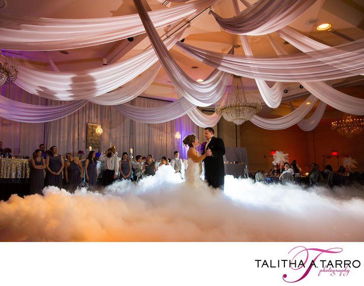 Dancing On Clouds. Fog Machine At Wedding Reception. Fog