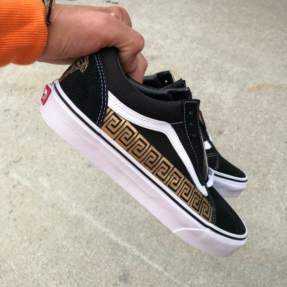 Custom Versace Vans Great Look On A Pair Of Vans You Can Wear