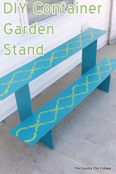 DIY home crafts  : DIY Container Garden Stand plus