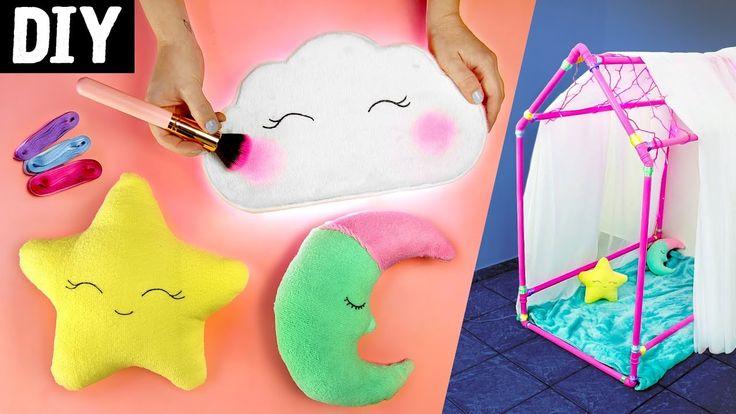 DIY para Crianças ⭐ Casinha de Cano, Luminária de Nuvem e Almofadas Fof...