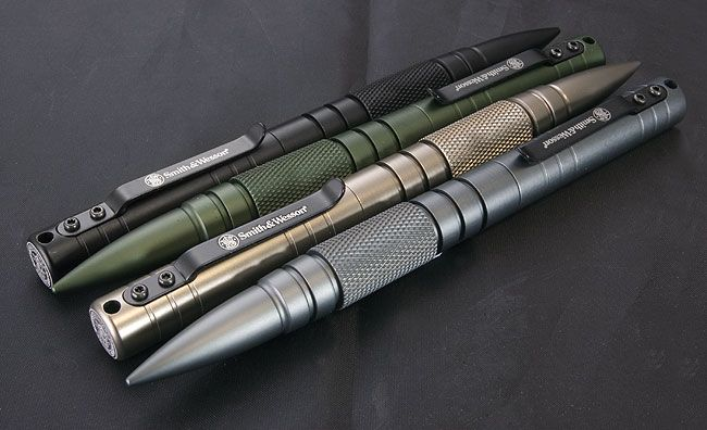 Smith and Wesson Military and Police Tactical Pens are a high quality metal tools that can be both a sturdy pen for use in the field and a practical defense weapon.
