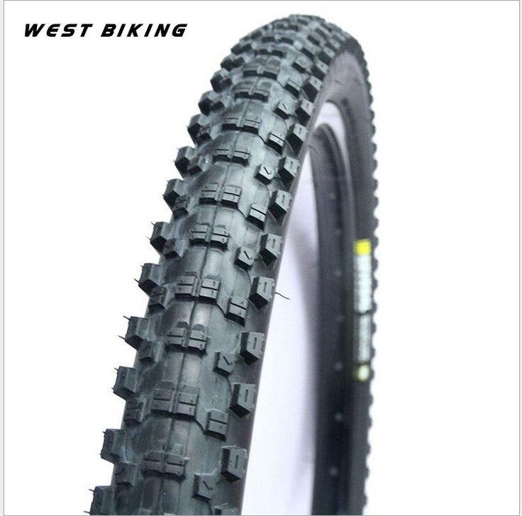 WEST BIKING Bicycle K1010 26 * 2.1 30TPI Steel Tire Wear Non-slip Folding Mountain Bike Cross-Country Tire Bike Tires