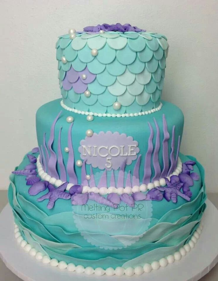 Mermaid cake...I want this for Olivia's 14th Birthday!!!