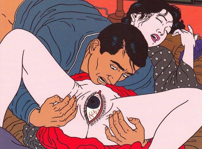 Les scènes de sexe dépeintes pendant des siècles par les artistes japonais ont de beaux jours devant elles : l'artiste japonais Toshio Saeki continue la tradition... à sa manière.
