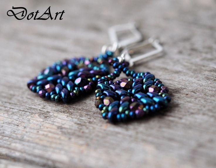 Dorota Walentyn- Goral, #DotArt, #earrings, #beading, #toho, #Super Duo, #polandhandmade, polandhandmade.pl