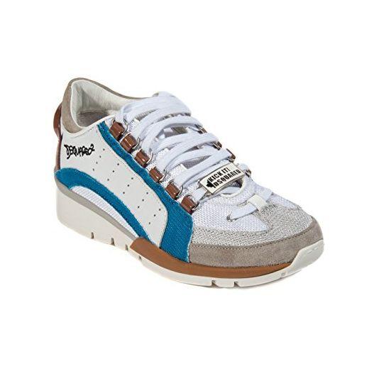 Dsquared2 Damen Sneaker in Weiß mit Lila Streifen - Sneakers für frauen (*Partner-Link)