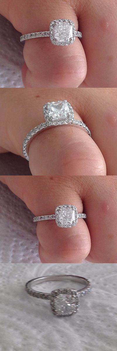 jewelry: 1.55 Ct Radiant Cut Diamond Engagement Ring 14K White Gold -> BUY IT NOW ONLY: $1699 on eBay!