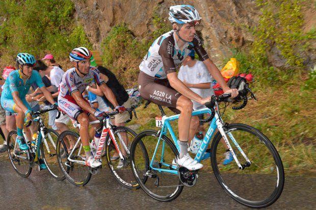Bardet, Rodriguez and Fuglsang. Stage 12. Lannemezan to Plateau de Beille.