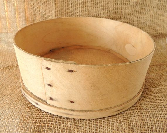 Vintage Wooden Sieve Flour Wooden Sifter Country Kitchen