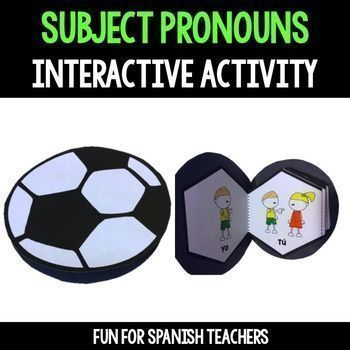 Spanish Subject Pronouns {Interactive Activity} Charts for AR, ER and IR verbs included    This interactive activity will help students remember subject pronouns in Spanish. This activity can be used in your students Interactive Notebooks and can be used