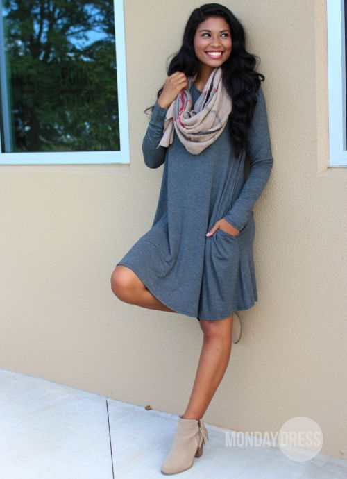 Here's To The Good Times Charcoal Dress