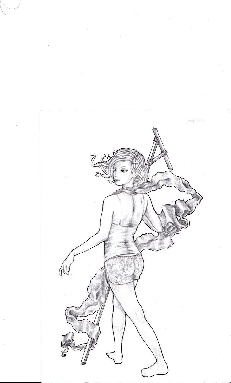 Wonder women on sketch