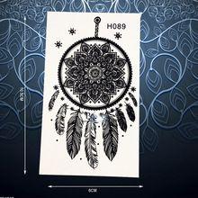 Нетоксичных Черными Чернилами Хной Временные Татуировки Наклейки…