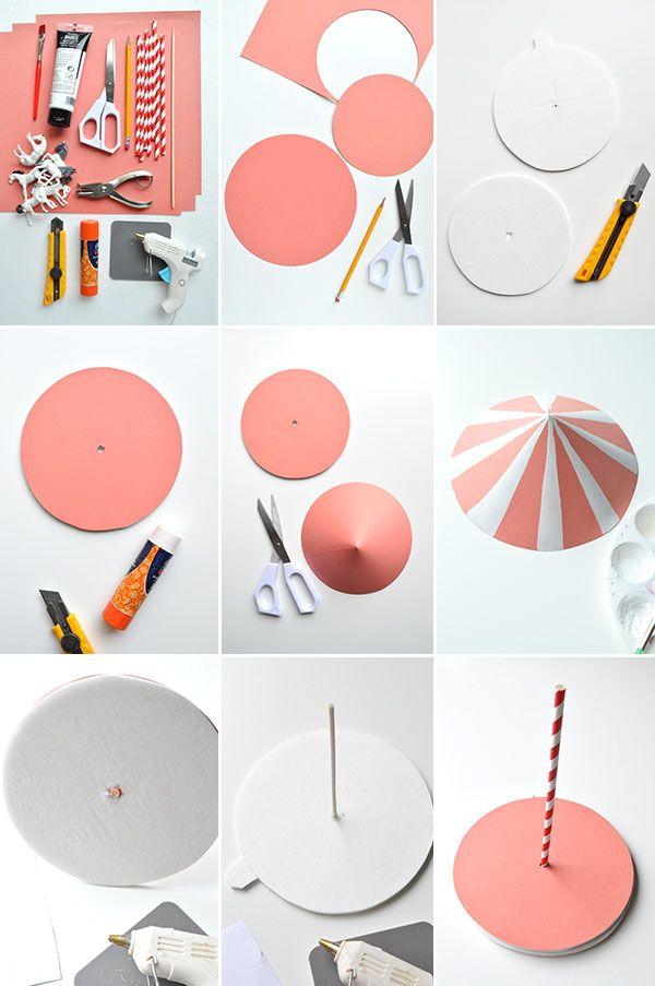 Spinning Carousel Centerpiece | Oh Happy Day! http://www.pinterest.com/sweetfructose/fun-crafty-diys-tutorials-lifehacks/