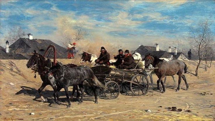 Alfred Wierusz Kowalski: Powrót z jarmarku