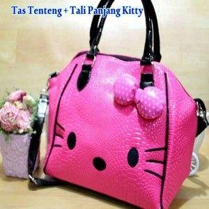 Tas Tenteng Tali Panjang Pita Hello Kitty