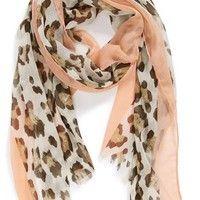 Lulu Cheetah Print Woven Scarf (Juniors) | Nordstrom