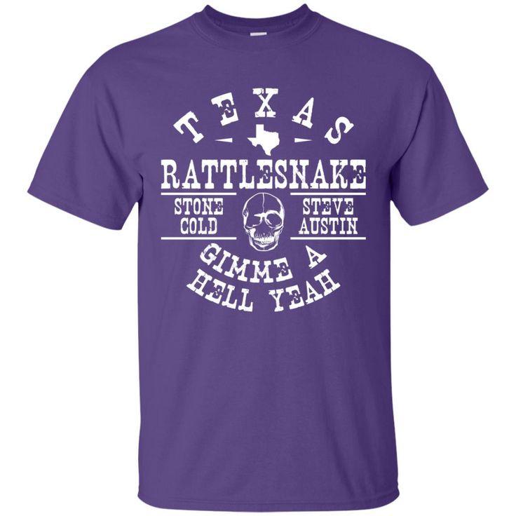 Stone Cold Steve Austin Texas Rattlesnake Vintage T-Shirt-01 G200 Gildan Ultra Cotton T-Shirt