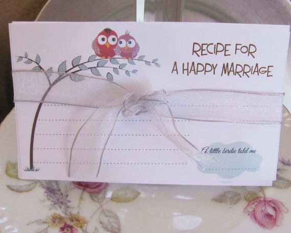 Recipe for Happy Marriage   30 Marriage Advice Cards by RecipeBox, $9.99