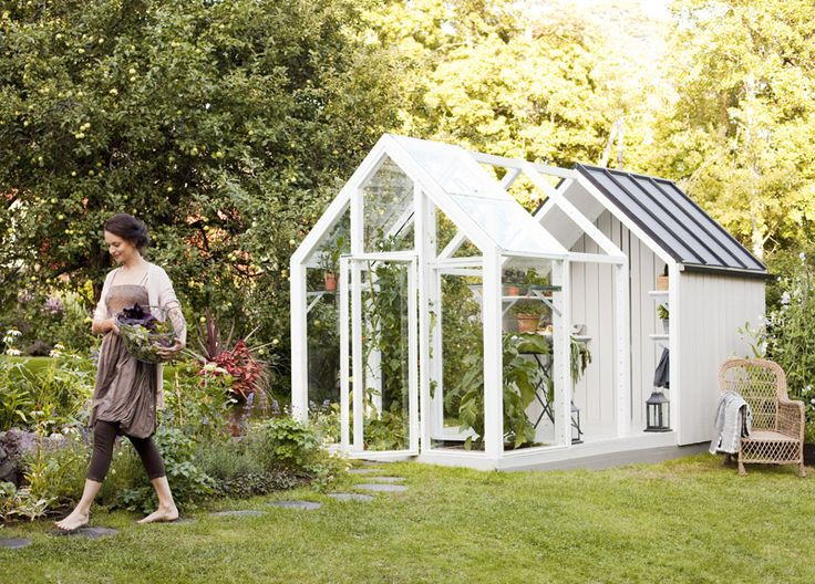 Delighful Garden Sheds And Greenhouse Combinations This Pin More On Plants Modular Greenhousegarden Intended Decorating