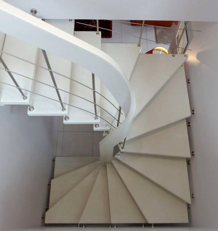 Escalier Courbe Nova R6 Blanc Staircase Design Modern Floor