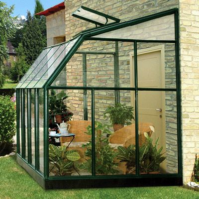Rion Sun Lounge Lean-to Greenhouse - Hobby Greenhouse Kits