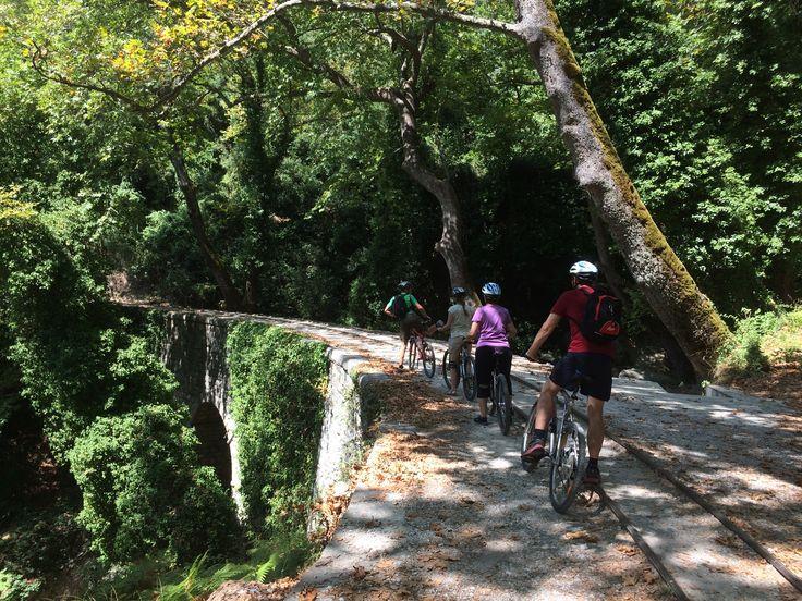 Biking Milies Stone Bridge - Pelion - Greece