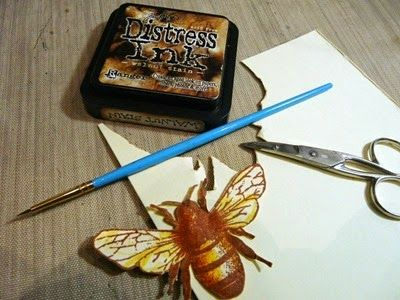 Cut Out and Painted Bee for Honeybee Birthday Card (2014)