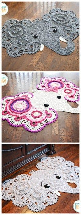 Crochet Elephant Rug and other amazing crochet ideas
