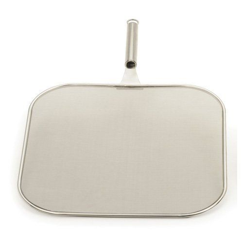 "Endurance 12"" Square Splatter Screen by RSVP. $18.99. Dishwasher safe. 12"" square for better coverage of your fry pans. Stainless steel construction for long lasting durability. Fine double mesh screen prevents splatters. The Endurance 18/8 stainless steel 12"" square splatter screen is perfectly designed for use with square stovetop grills and frying pans. The fine double mesh screen helps prevent splatters while cooking and reduces your clean up time and best of all is ..."