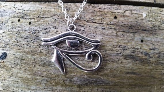 Oog van Horus hanger, oog van Ra amulet, bescherming amulet, Egyptische zonnegod, Egyptische magie, unisex heidense sieraden, heksen ketting,