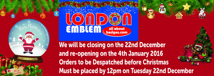 Just a reminder we close tomorrow for the Christmas period. We hope you all have a very Merry Christmas and a Happy New Year :).