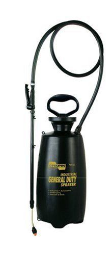 Chapin Industrial 3-Gallon Poly General Duty Sprayer 2553E by Chapin. $43.00. Brass fan tip nozzle for multi-purpose applications. Brass spray handle with lock-on for fatigue-free continuous spraying. Lock-on feature for fatigue-free continuous action. funnel-top for easy filling. 18-inch wand; 60-inch hose; 3-gallon. Amazon.com                The Chapin industrial poly general duty sprayer is a durable all-purpose sprayer. Built with a patented anti-clog filt...