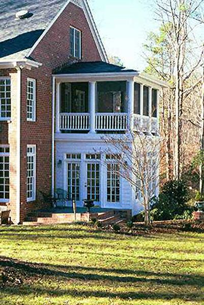 A sun room and a screened porch -- my two favorite features.